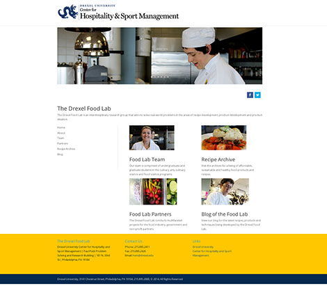 Drexel University Hospitality & Sport Management Food Lab